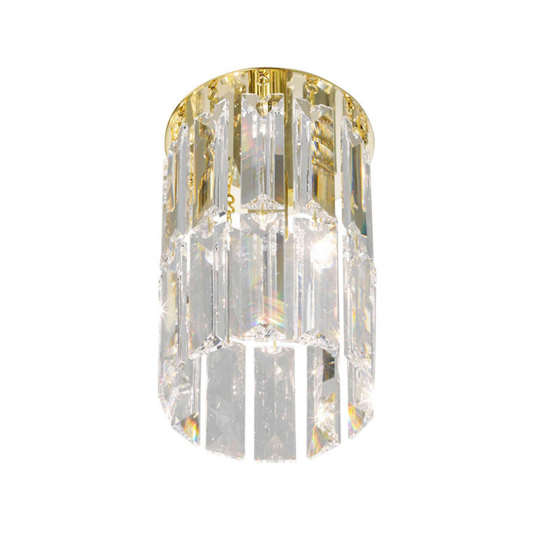 KOLARZ Prisma lampa sufitowa, kryształ złoto 24 kt