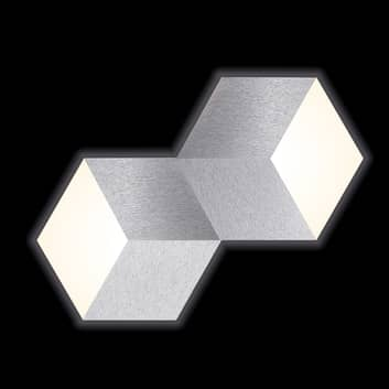 GROSSMANN Geo LED-seinävalaisin 2-lampp.