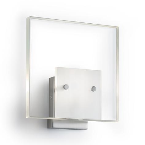 Satinoitu seinävalaisin Glass