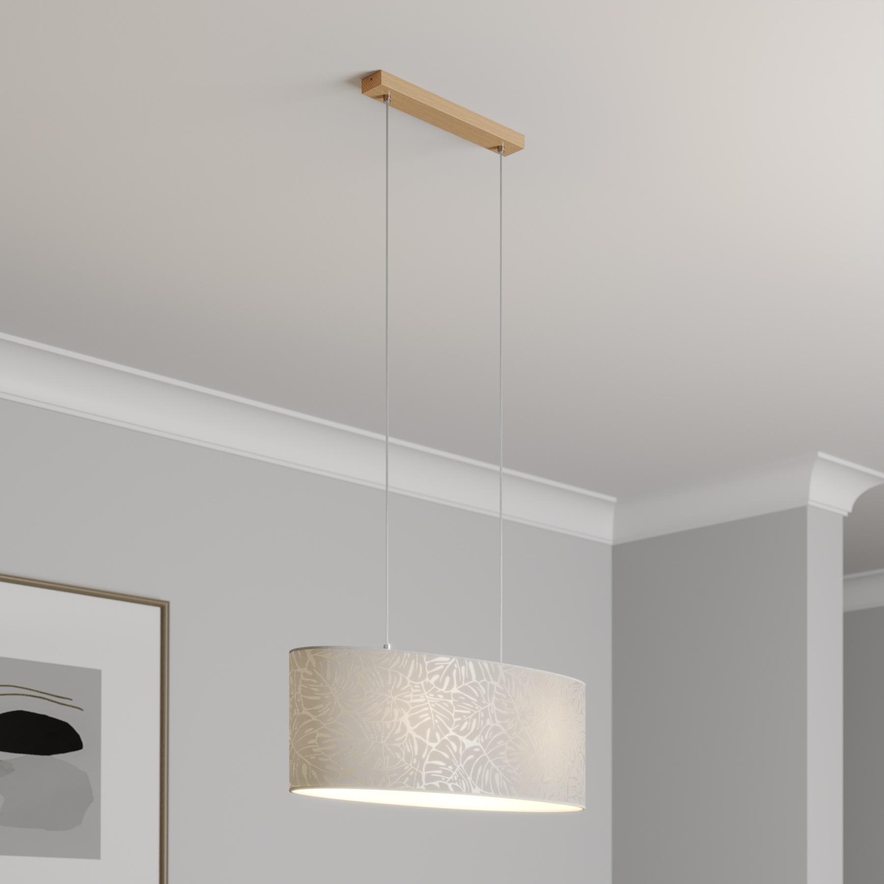 Lampa wisząca Hierro, klosz owalny 70 x 25 cm