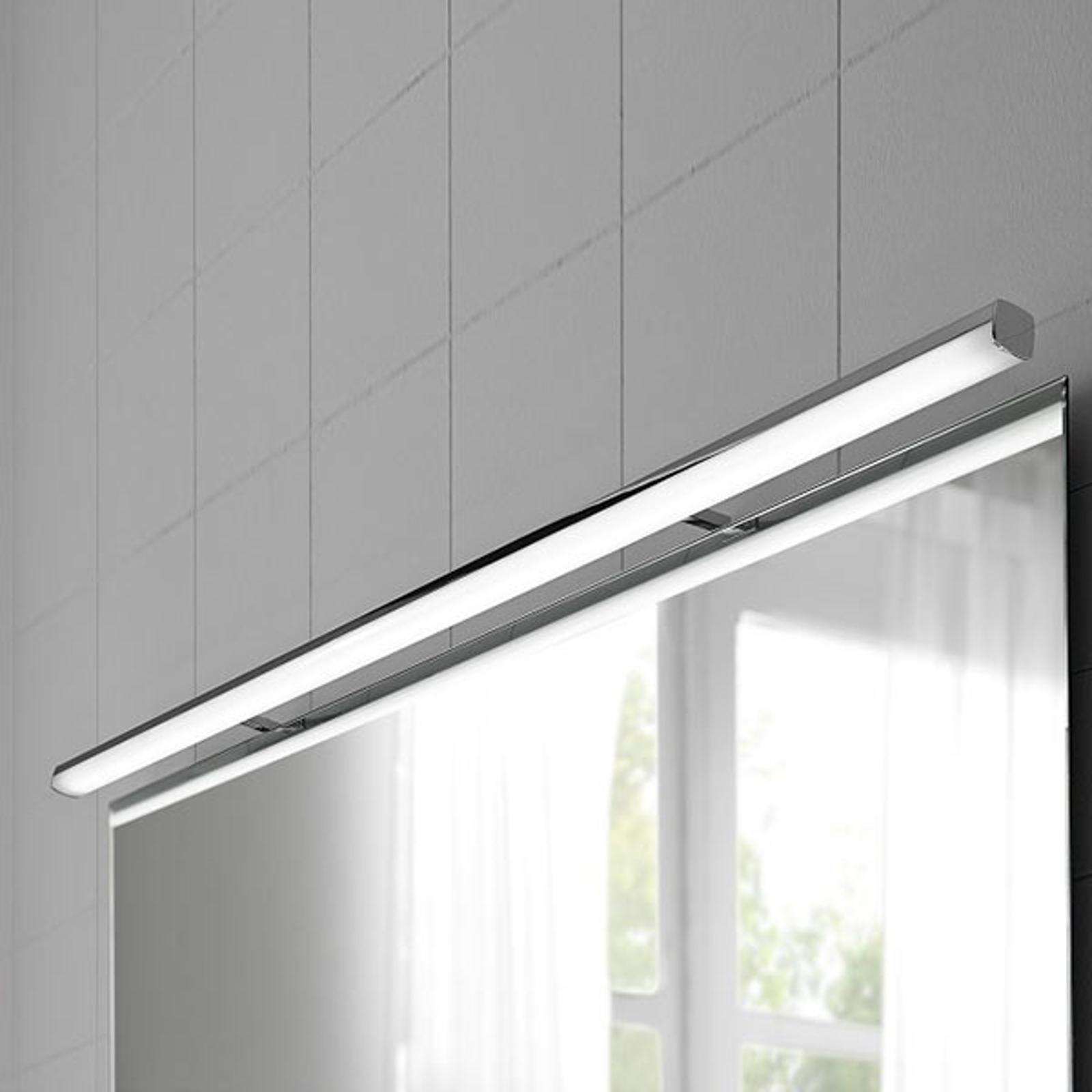 LED-Spiegelleuchte Ruth in Chrom, 110 cm