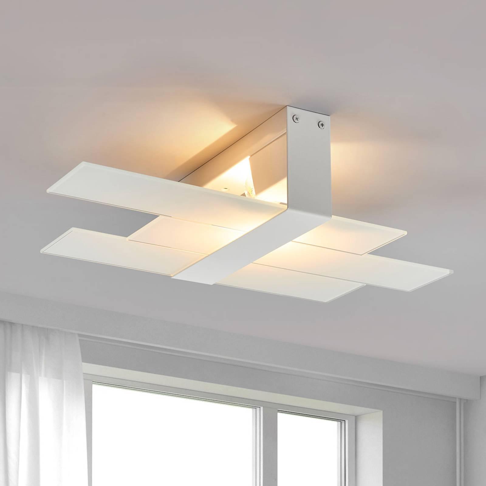 Nowoczesna lampa sufitowa Triad 48 cm biała