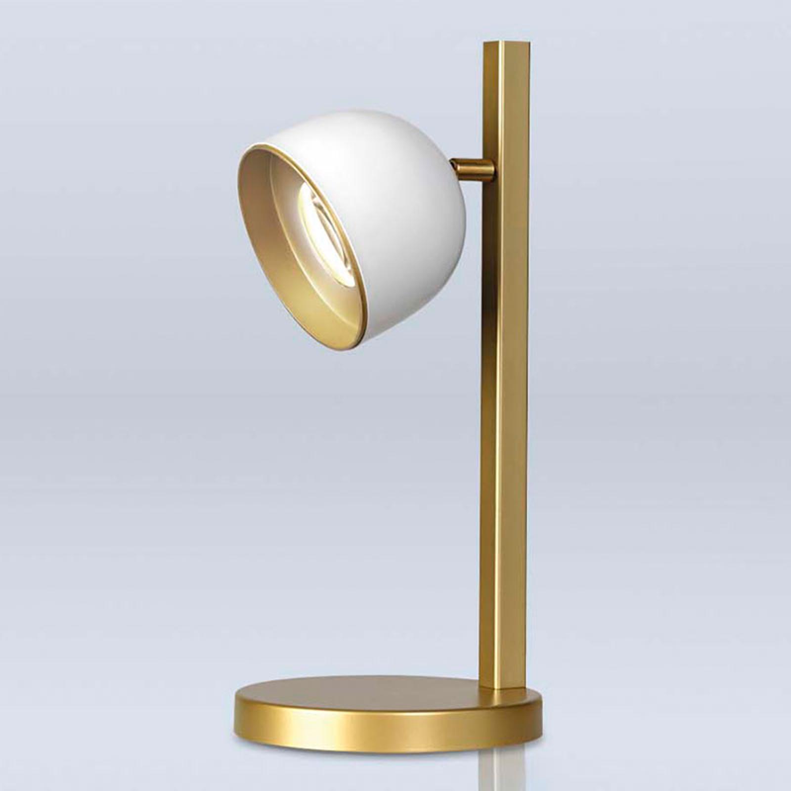 Dome LED-bordlampe, hvid