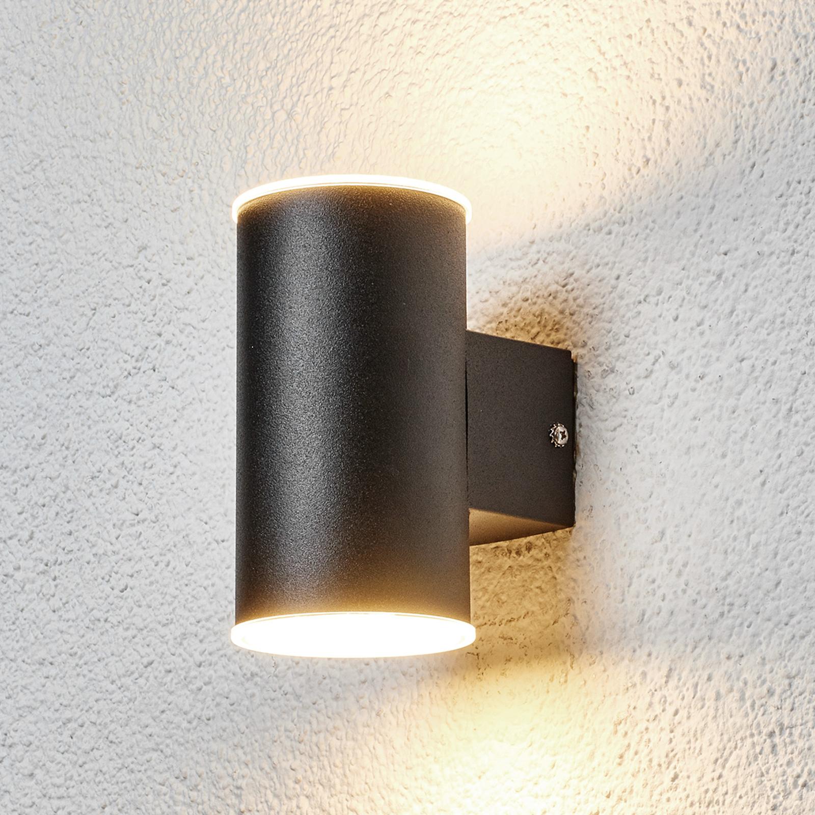LED-Außenwandleuchte Morena in Schwarz 2fl.