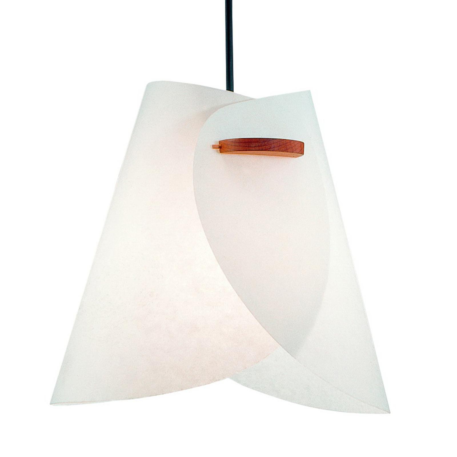 Biela dizajnérska závesná lampa IRIS_2600151_1
