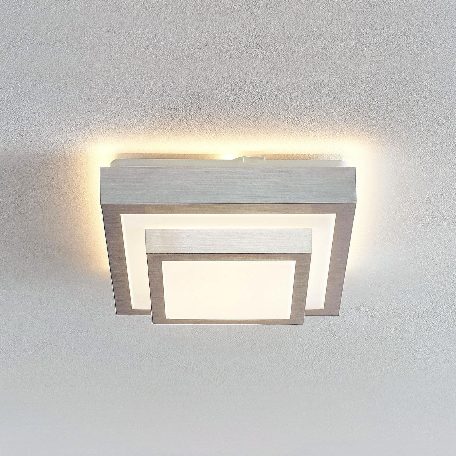 Lindby Mirco plafonnier LED angulaire, 27 cm