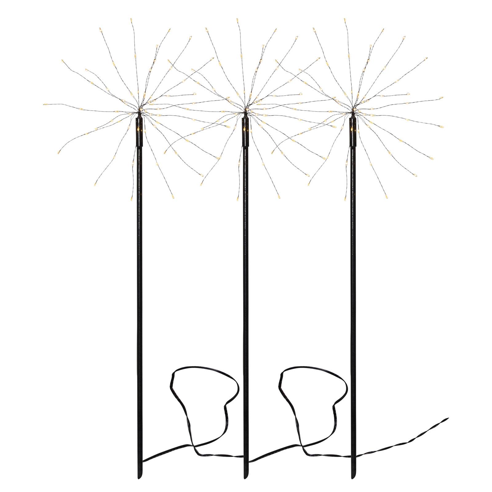 Firework Outdoor-LED-valaisin, 3 kpl, läm. valk.