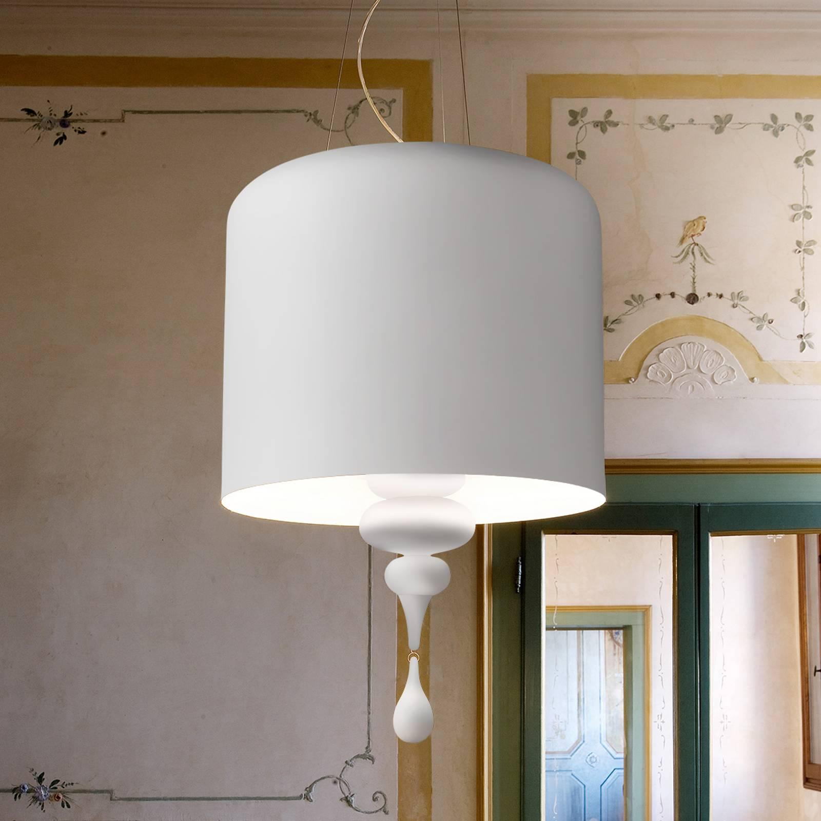 Lampa wisząca Eva S3+1, biała