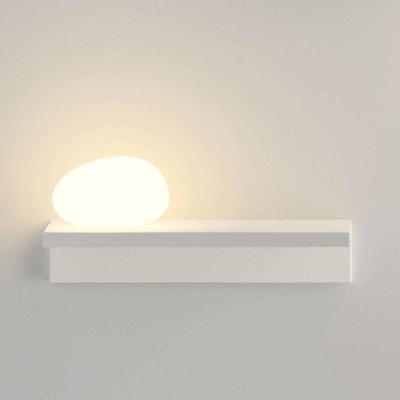 Raffinata applique LED Suite 14 cm con sasso