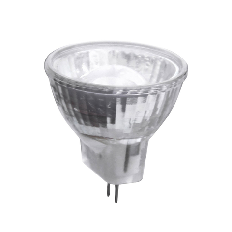 GU4 MR11 2W LED reflektorpære med linse