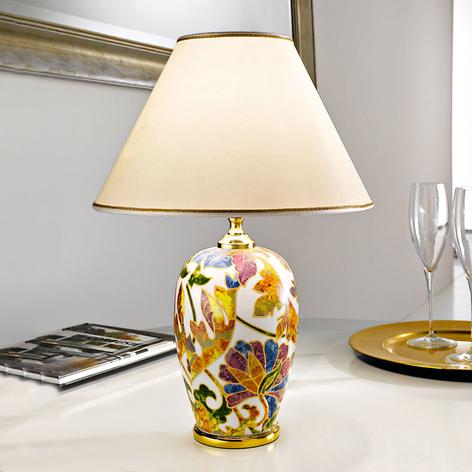Lampa stołowa Damasco 24-karatowe złoto, ceramika