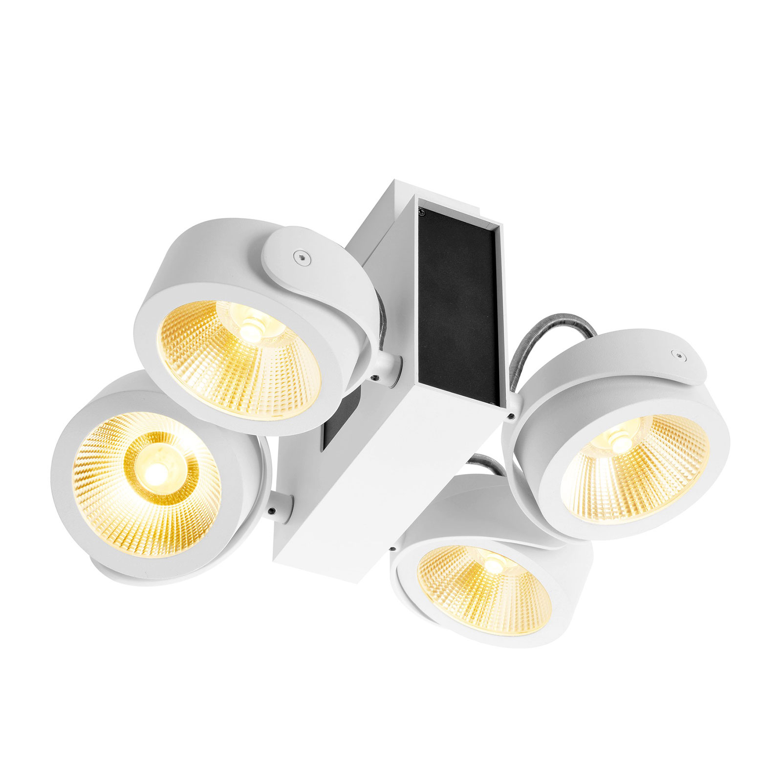 SLV Tec Kalu LED downlight 4-bulb, 24° black/white_5504974_1