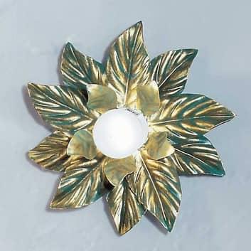 Wandleuchte Fleuria aus Metall, grün antik