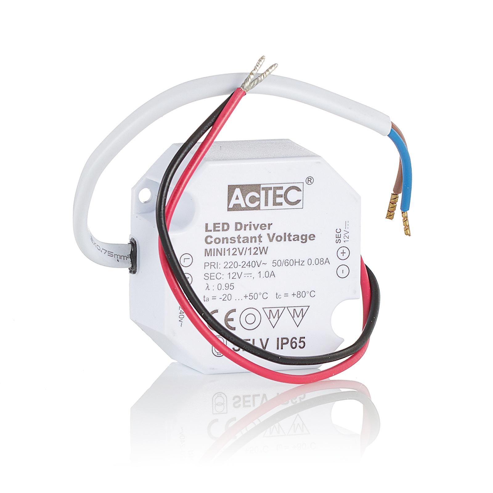 AcTEC Mini LED-driver CV 12 V, 12 W, IP65