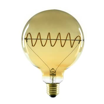 SEGULA LED Globe G125 E27 8W curved plus, gold
