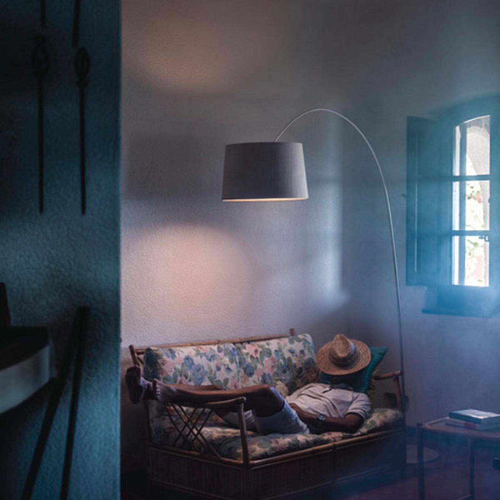 Foscarini Twiggi Wood LED-golvlampa gråbeige