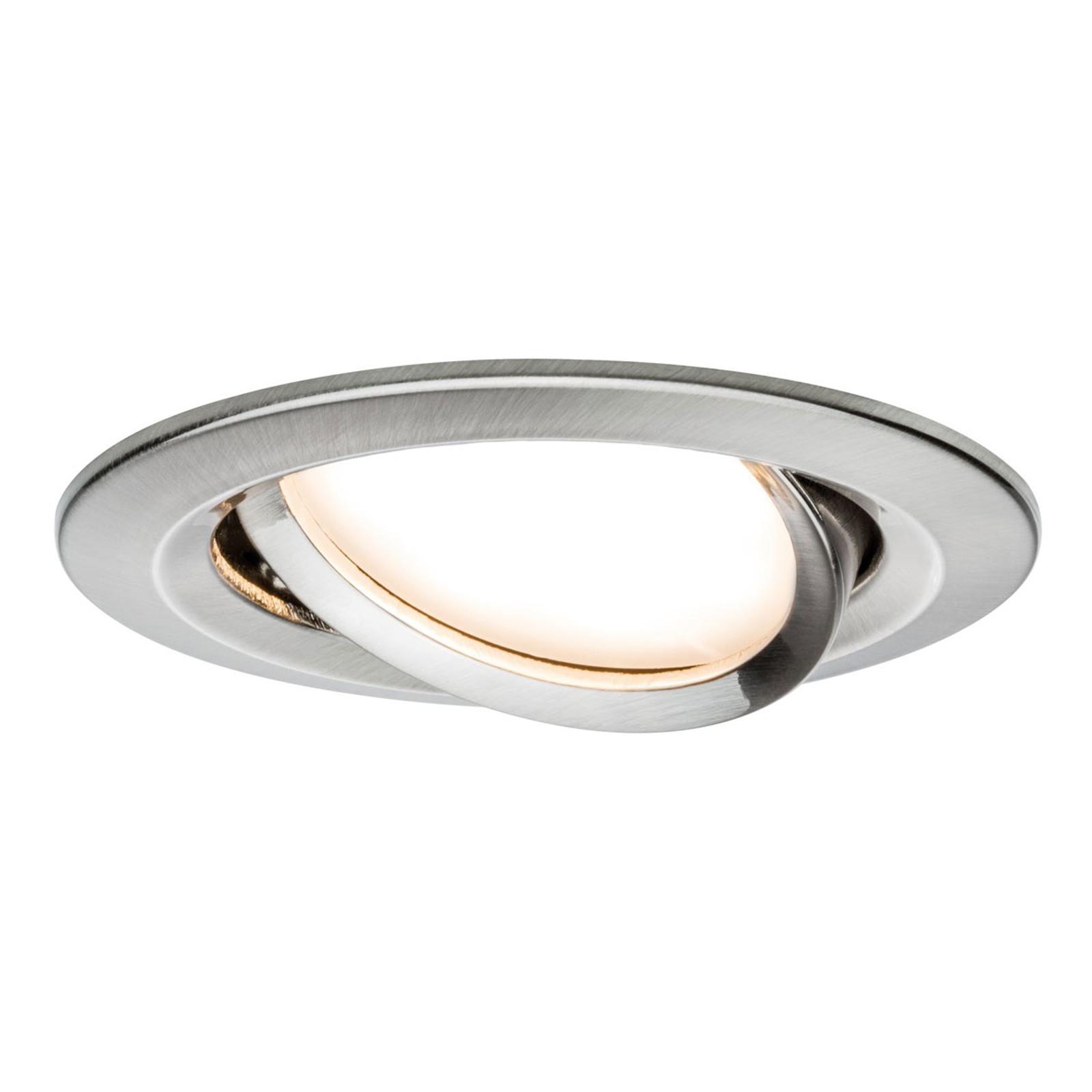 Paulmann 3er LED-Spot Slim Coin, schwenkbar, Eisen