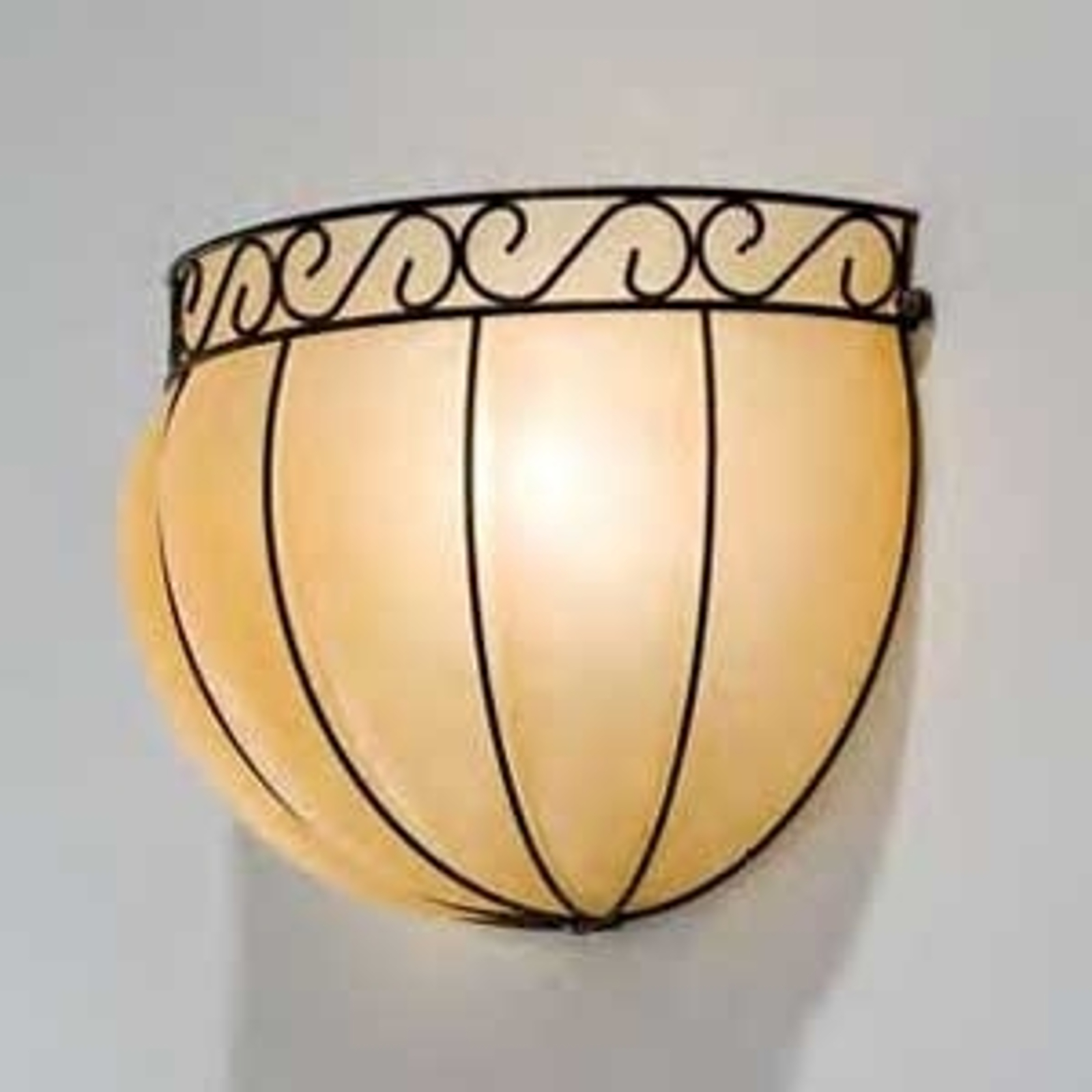 CORONA halvrund væglampe 34 cm