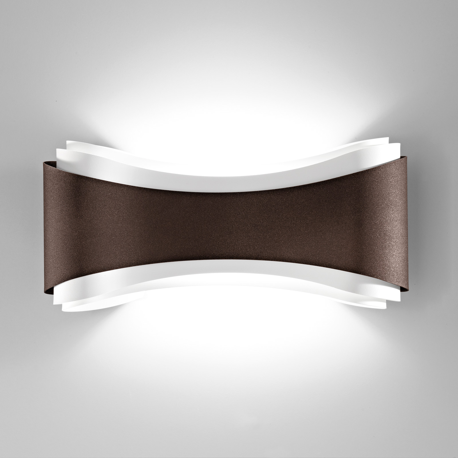 LED-Wandleuchte Ionica aus Stahl, bronze