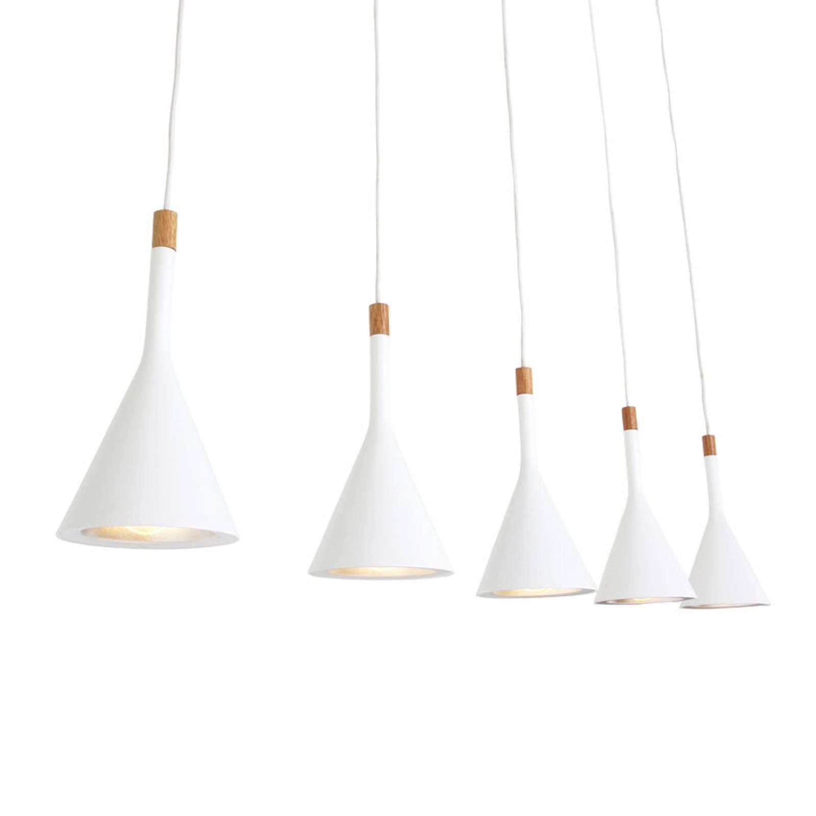 Hanglamp Cornucopia, wit, 5-lamps