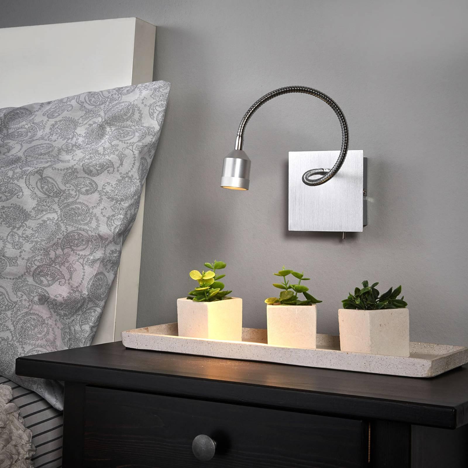 Functionele LED wandlamp Lovi met flexibele arm
