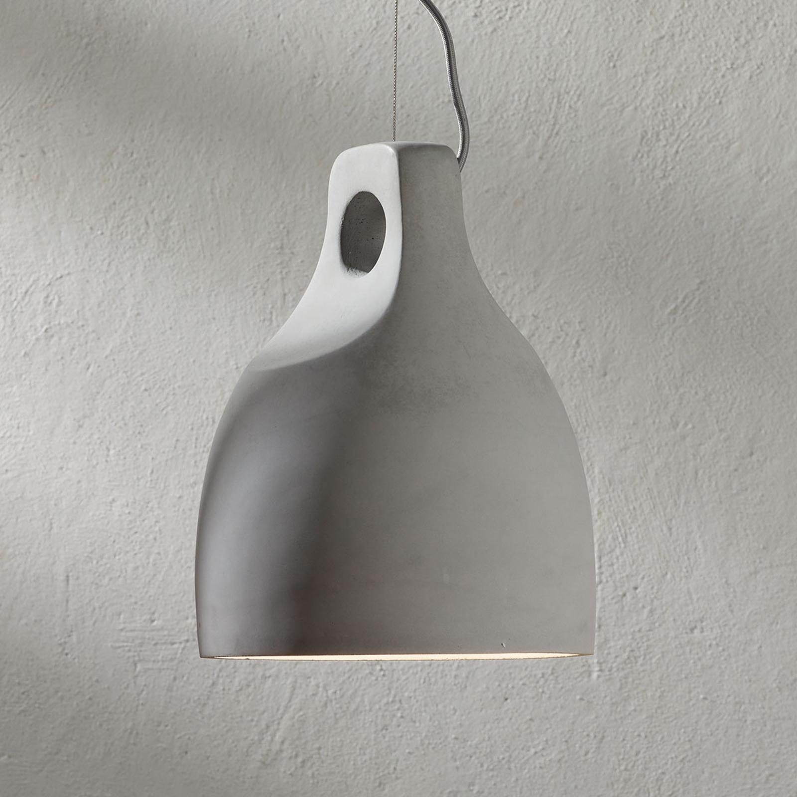 Betonowa lampa wisząca Morton, okrągła