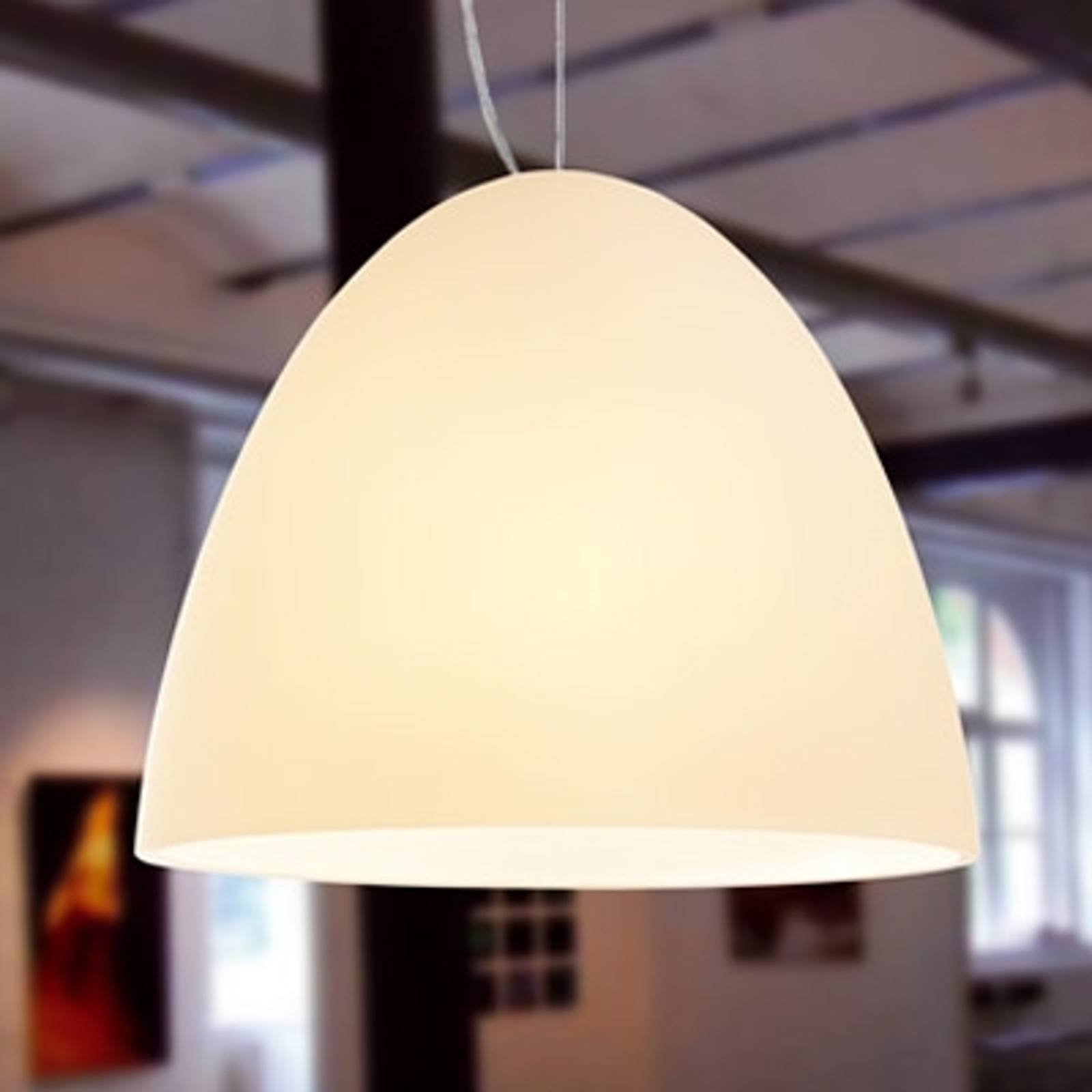 BELL - 1-lichts zandkleurige hanglamp, 21 cm