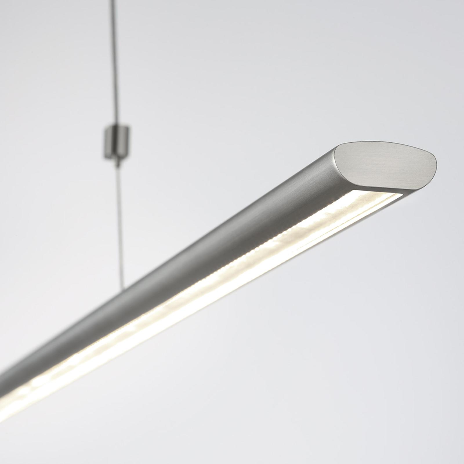 140 cm lange LED-Pendelleuchte Brit, Nickel matt kaufen