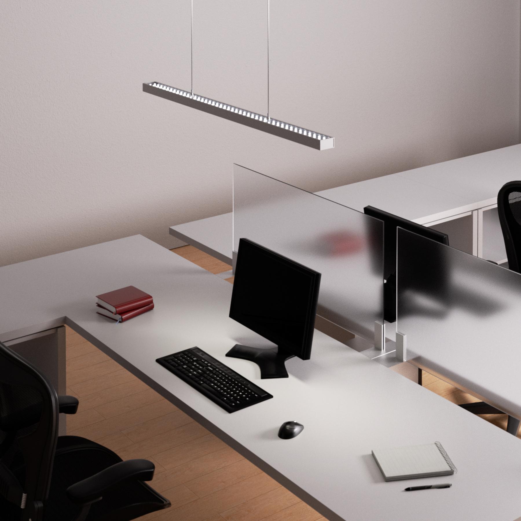 Suspension de bureau Jolinda avec LED, dimmable