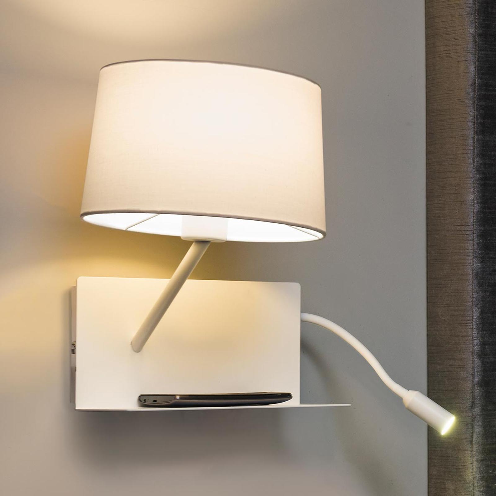 Met LED leesarm - functionele wandlamp Handy