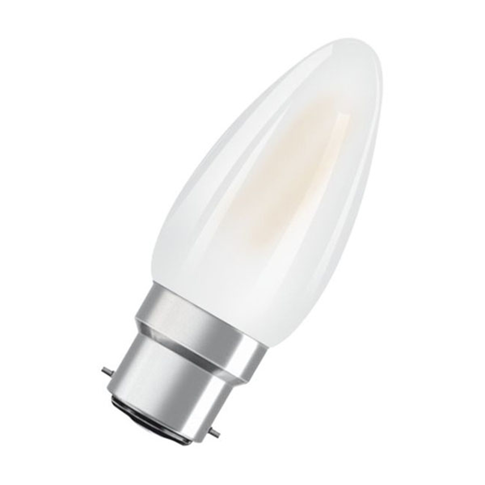 Ampoule flamme LED B22d 5W 2700K mate dimmable