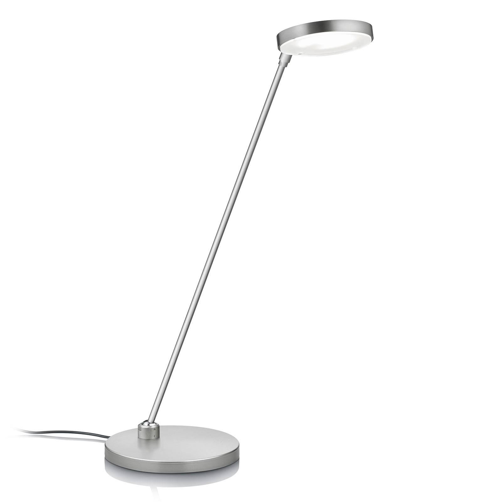 LED tafellamp Thea-T, nikkel mat