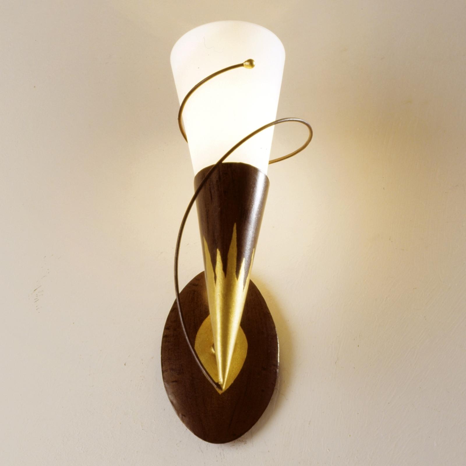 1-lichts wandlamp Torcia Spirale
