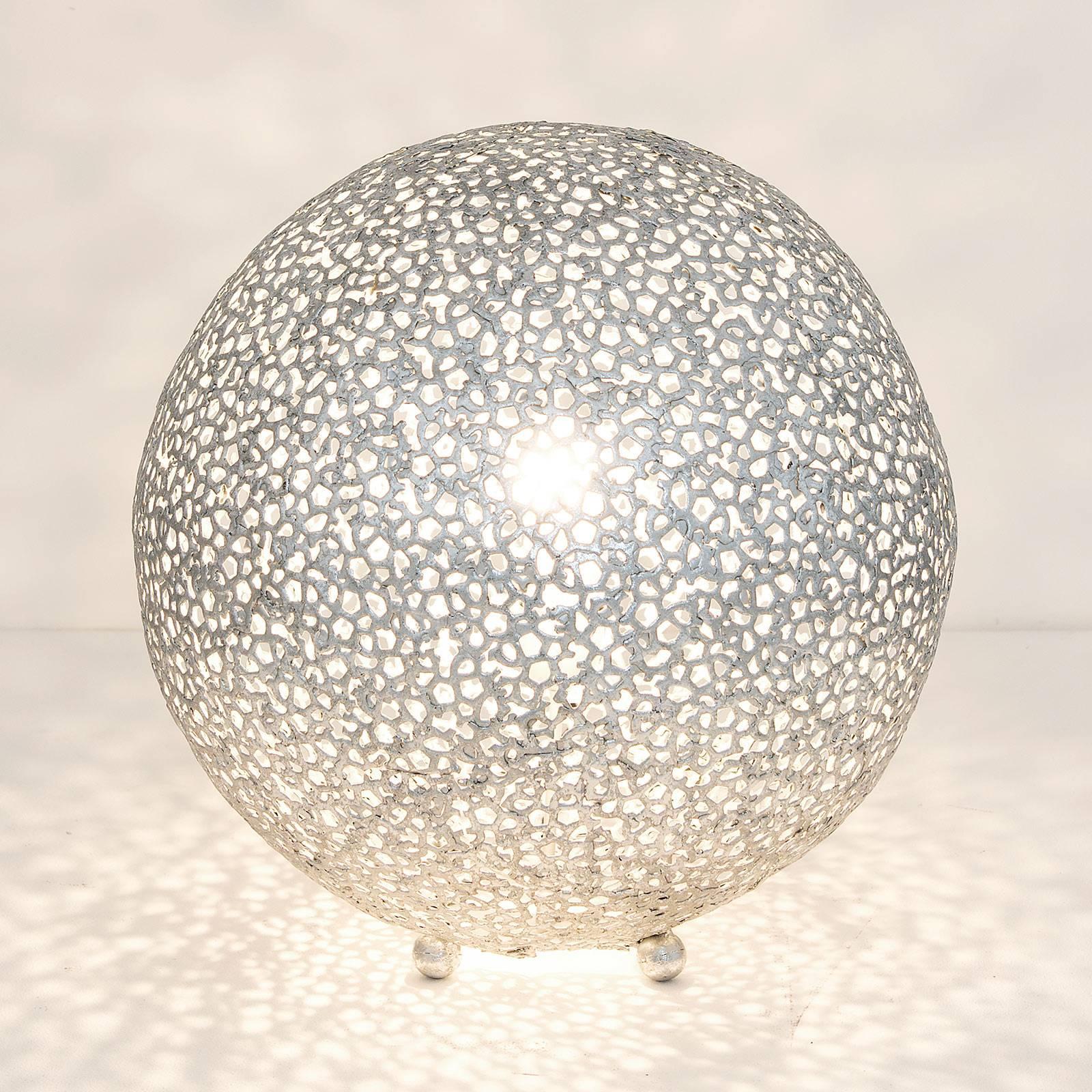 Tischleuchte Lily Grande, Ø 43 cm, silber