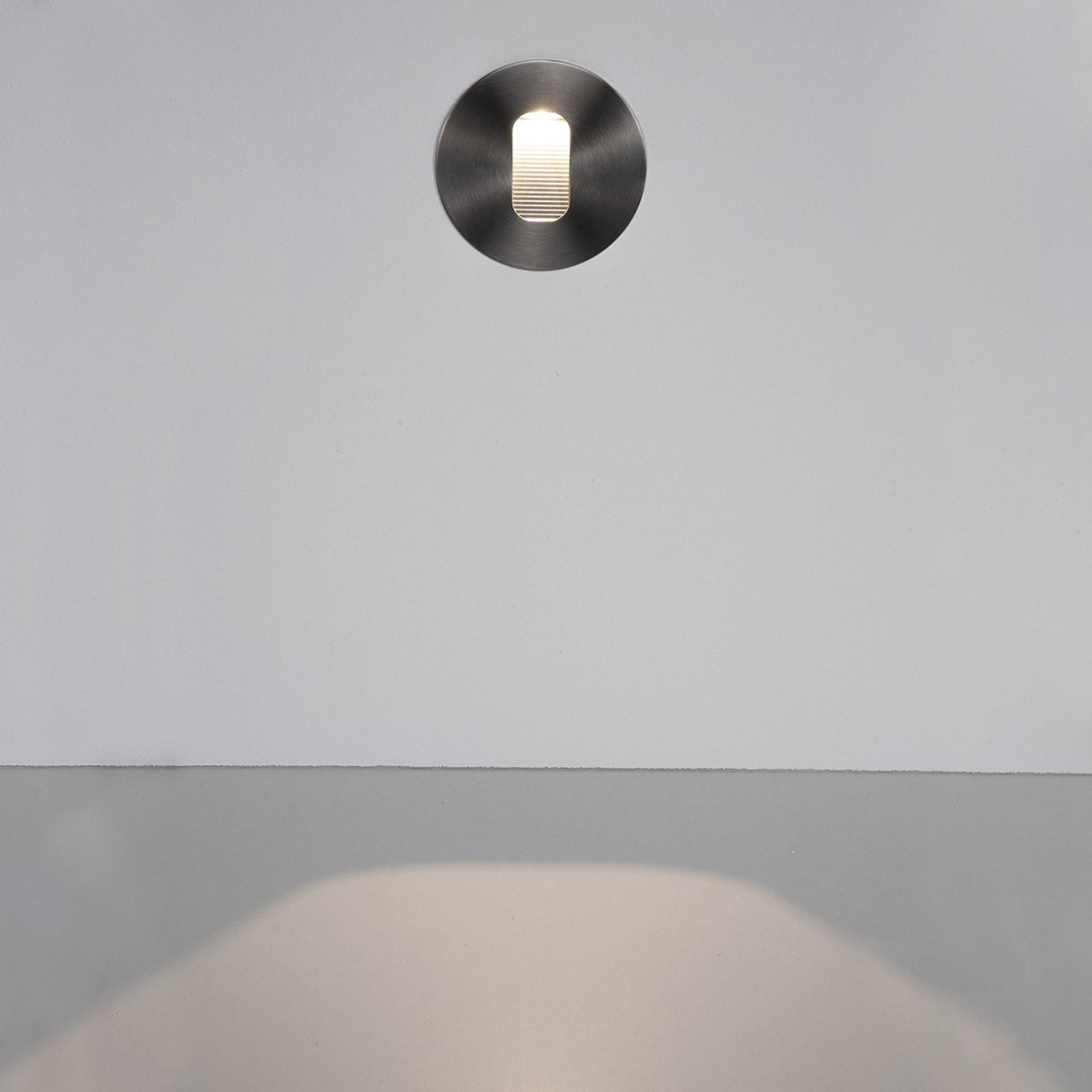 Runde LED-Wandeinbauleuchte Telke für außen