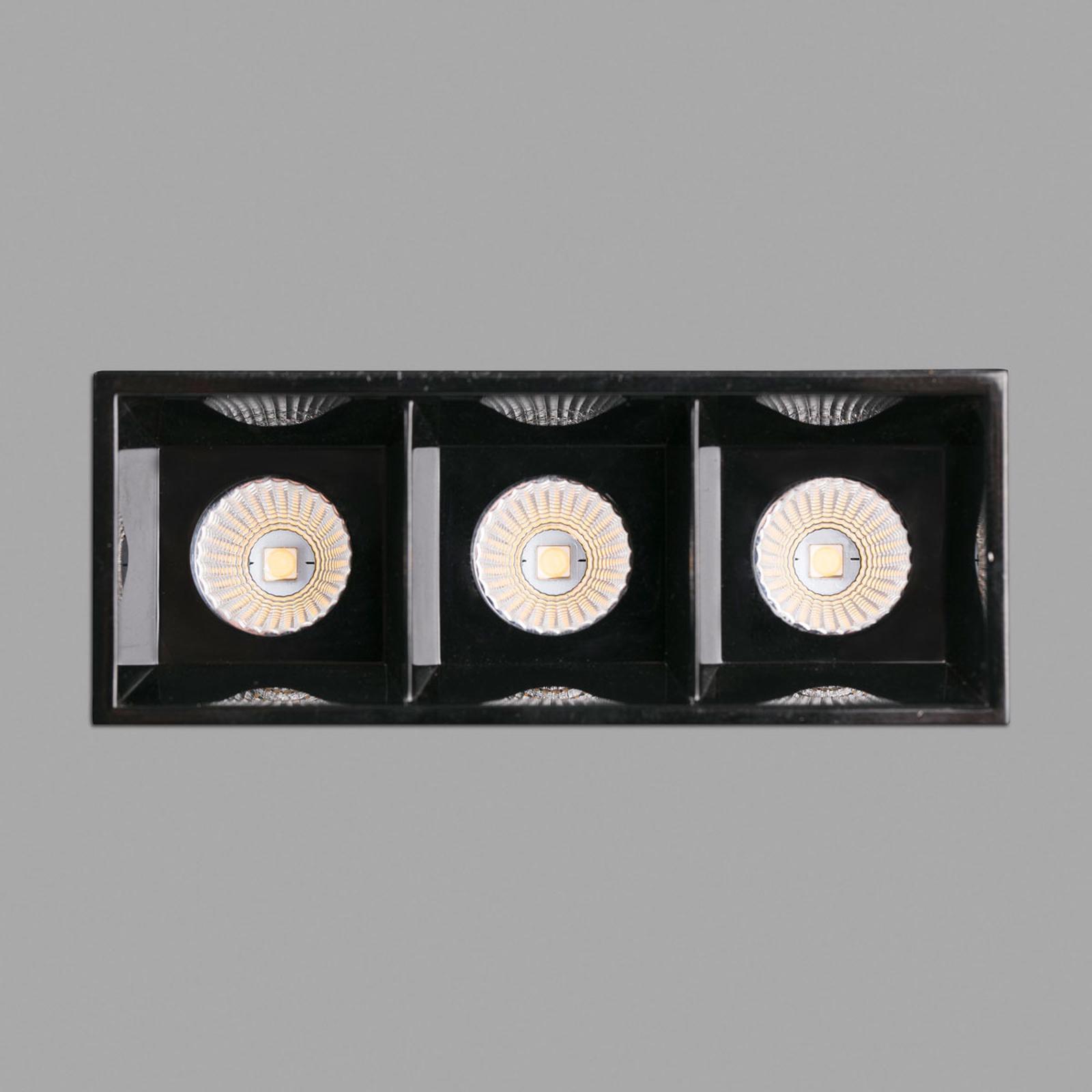 LED-Einbauleuchte Troop Trimless, 3-flammig
