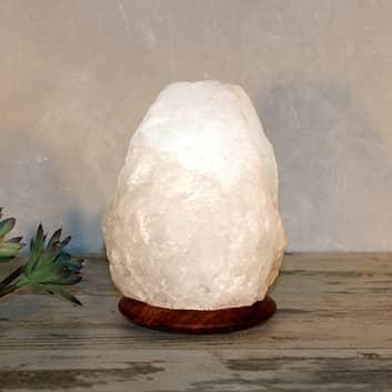 Salzkristallleuchte Rock White Line, 2-3 kg