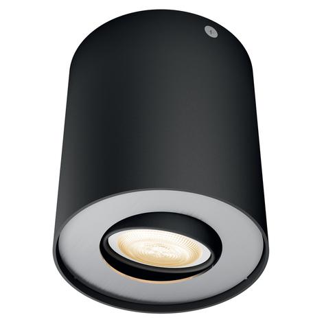 Philips Hue White Ambiance Pillar spot LED noir