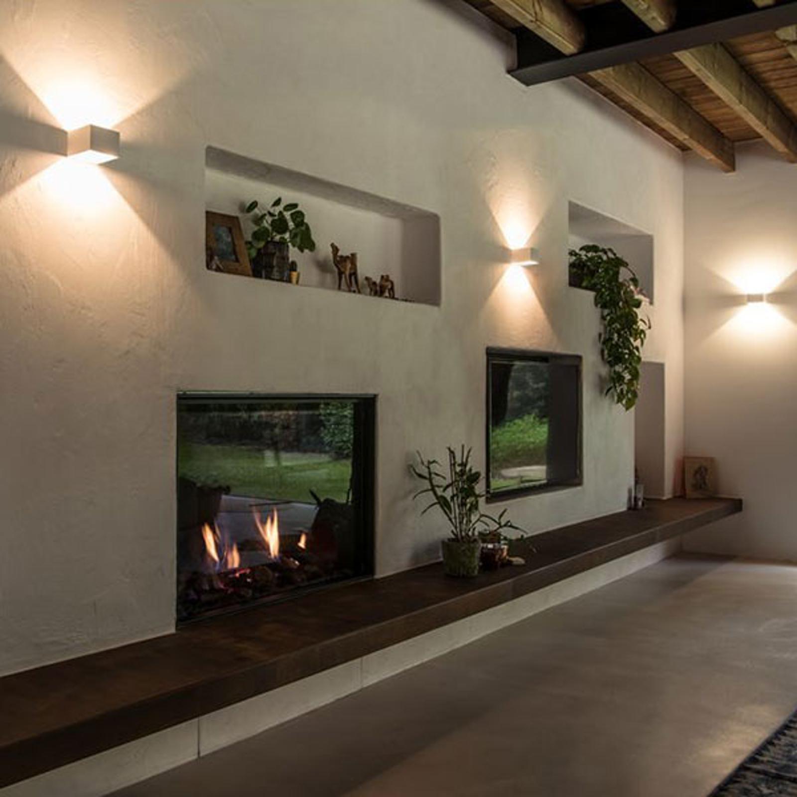 SLV Logs In LED-Wandleuchte 10 cm weiß/weiß