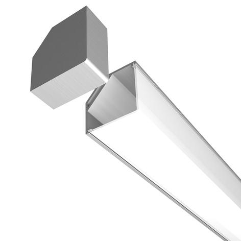E45 Aluminium Eck-Profil flächenbündig 2.000 mm