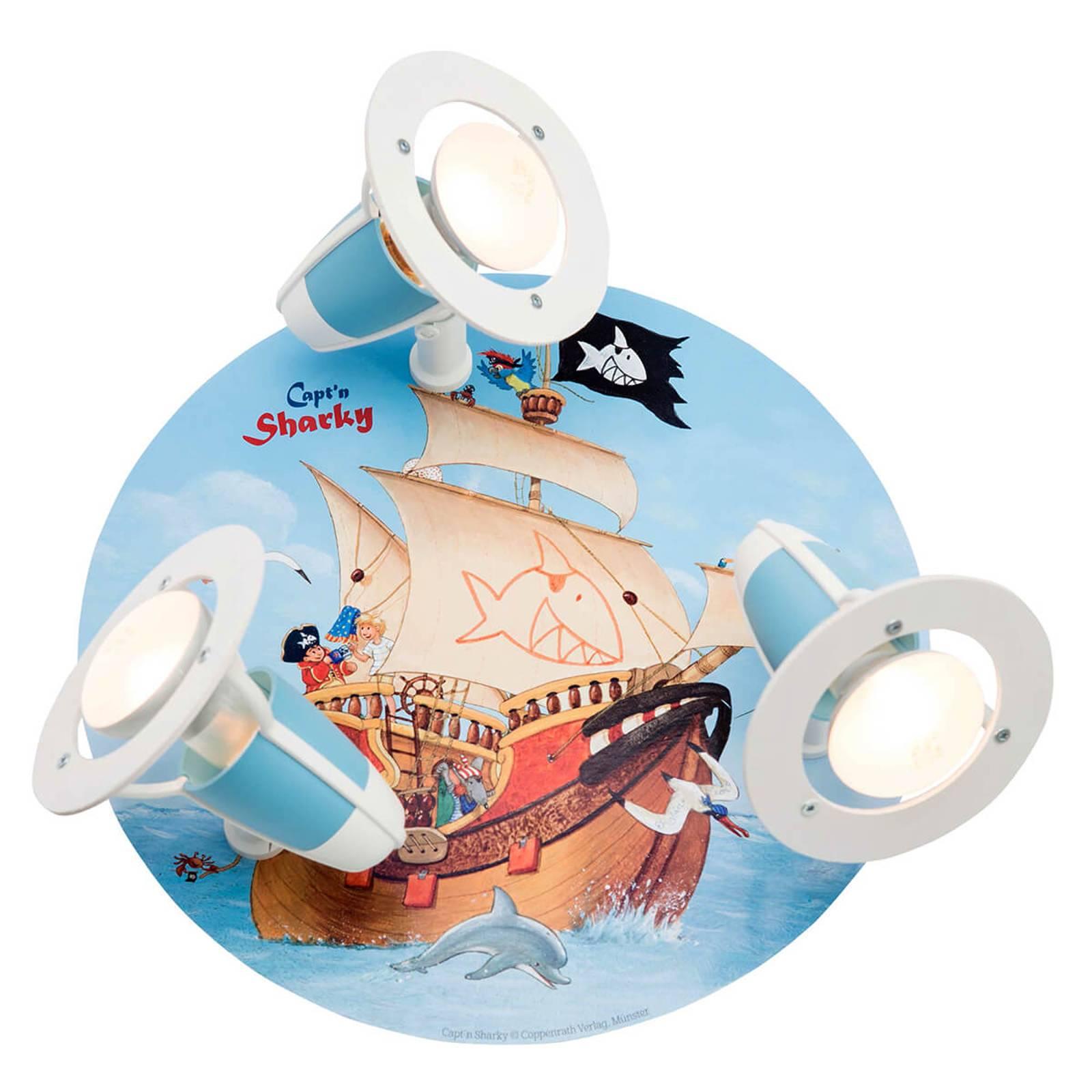 Plafondlamp Capt'n Sharky voor de kinderkamer