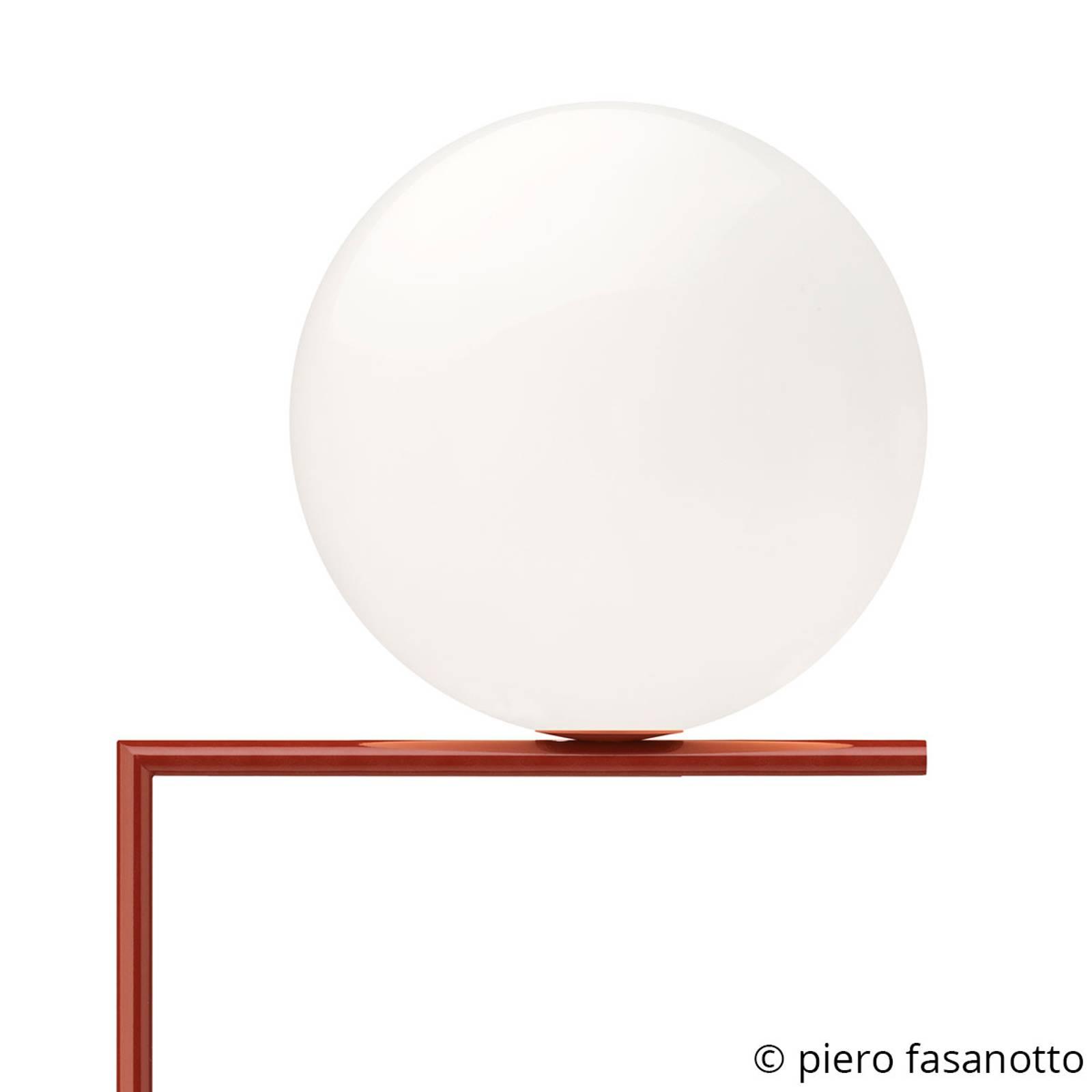 FLOS IC F2 Stehleuchte burgunder-rot Ø 30 cm