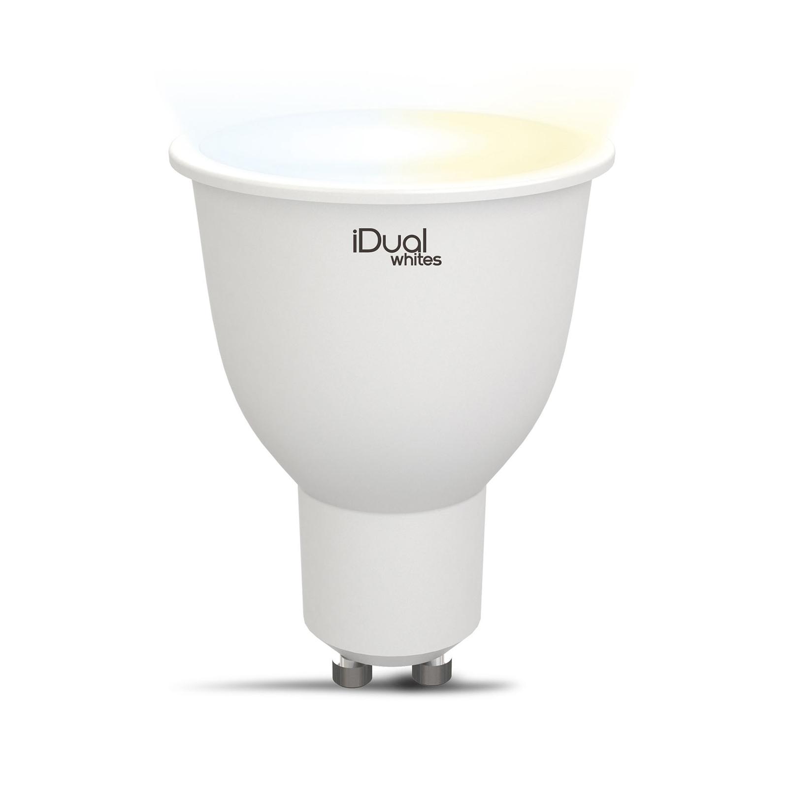 iDual Whites réflect. LED GU10 5,8W tunable white