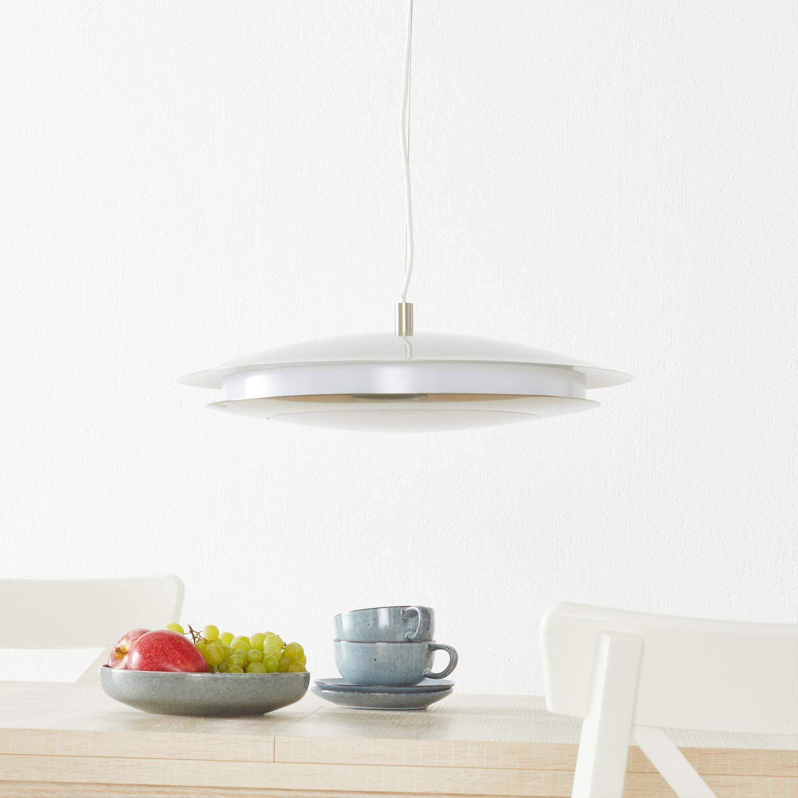 EGLO connect Moneva-C LED-Hängelampe nickel Ø 48,5