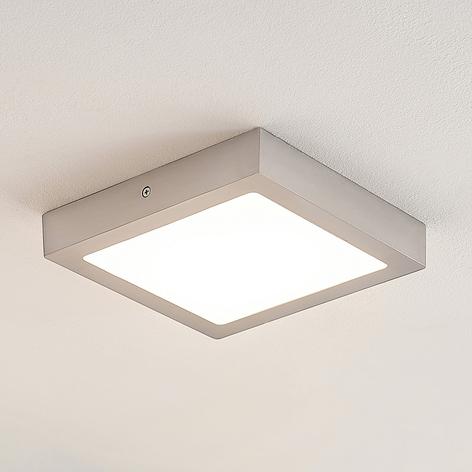 ELC Merina LED-Deckenlampe eckig, nickel