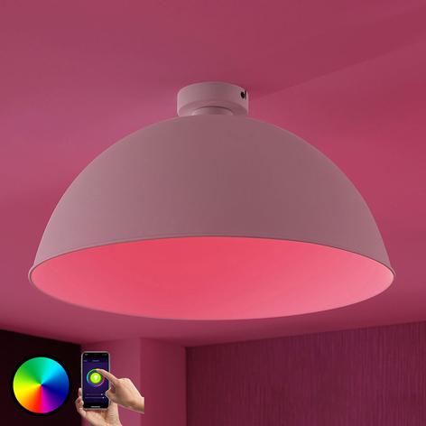 Lindby Smart LED-Deckenleuchte Bowl 51cm weiß