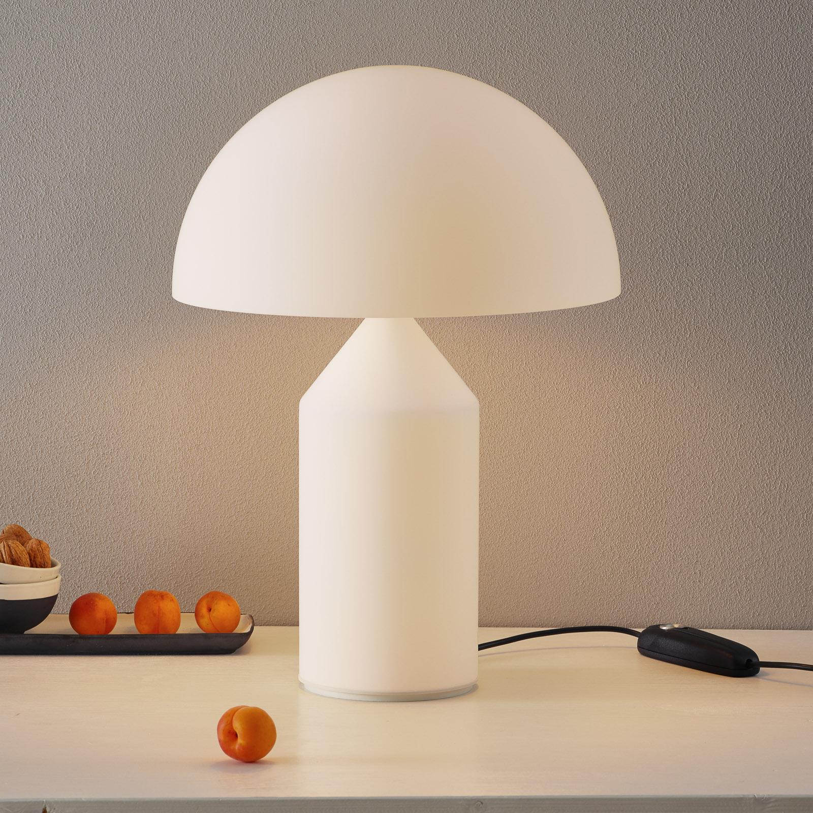 Bordlampe Atollo med Muranoglass, 50 cm.