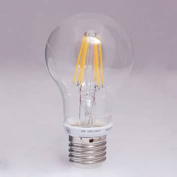 E27 8W LED-Filamentlampe med 1.000lm - varmhvit