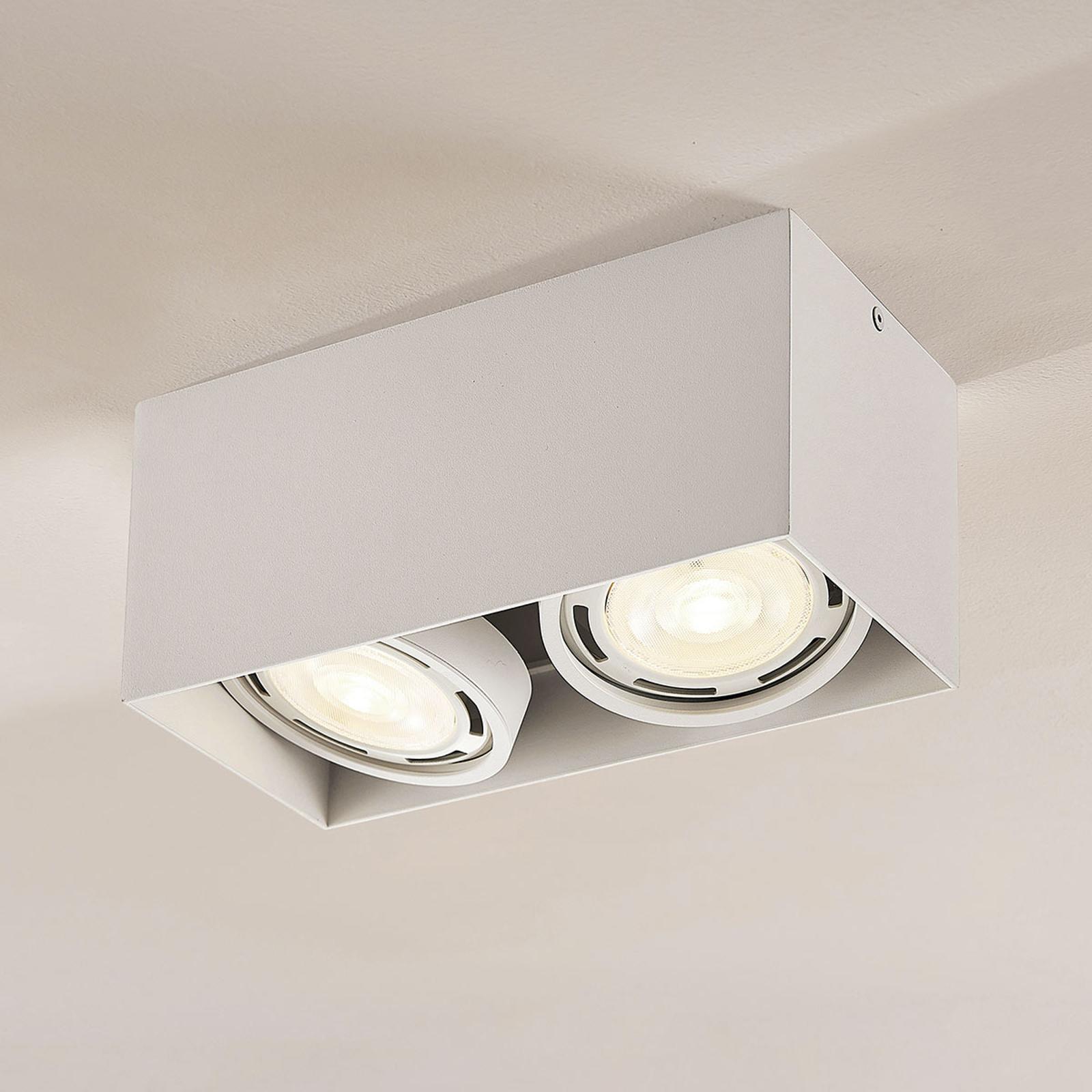 Rosalie LED-downlight 2 lyskilder kantet hvit