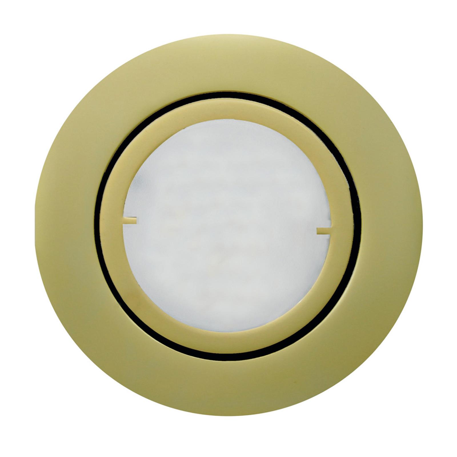 Lampa wpuszczana LED JOANIE, matowy złoty